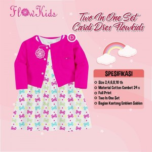 FK D FANTA BUTTERFLY SET CARDI DRESS FLOWER KIDS