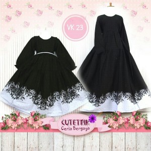 CTR BIG VK-23 BTK BLACK GAMIS ANAK CUTERIK