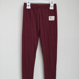 FAN LEGGING MAROON STRIPE