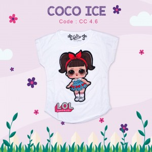 CC 4.6 WHITE RED RAINBOW KAOS ANAK COCO ICE