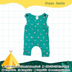 BB 5.5 GREEN SANTA JUMPSUIT BOBO