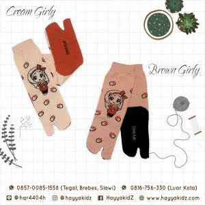 CM 1.2 BROWN GIRLY KAOS KAKI ANAK CAMEELA