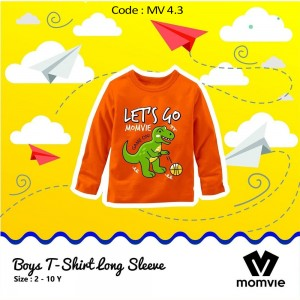 MV 4.3 ORANGE DINO KAOS ANAK MOMVIE