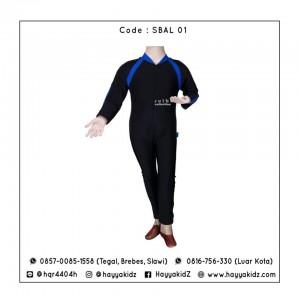 SLB SBAL 01 BLACK-BLUE BAJU RENANG ANAK SULBI