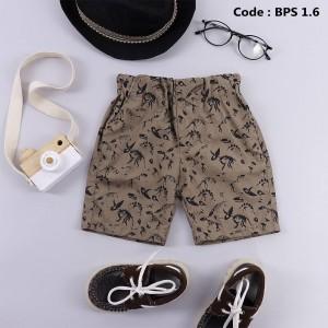 BPS 4.6 BROWN BOYS PATTERNED SHORT PANTS
