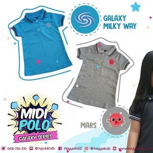 MP KIDS GALAXY MILKY WAY MIDI POLO DRESS