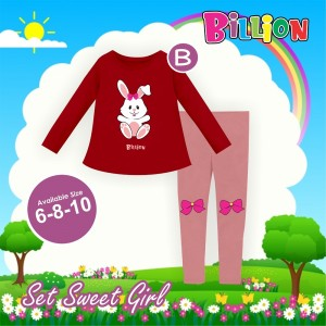 BL B MARRON RABBIT SETELAN SWEET BILLION