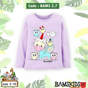 BAMS 3.7 PURPLE UNICORN KAOS ANAK BAMS KIDS