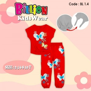 BL 1.4 RED BUTTERFLY SETELAN BILLION
