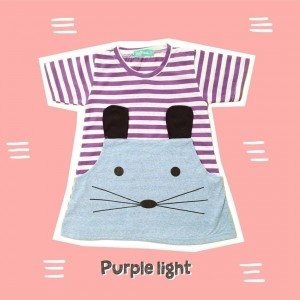 ANNORA 1.1 PURPLE LIGHT MINI DRESS ANAK