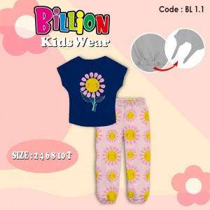 BL 1.1 NAVY SUNFLOWER SETELAN BILLION