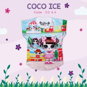 CC 4.4 JUN  WHITE LOL FULL PRINT KAOS ANAK COCO ICE