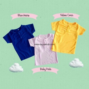 BUTTON TEE BABY PINK