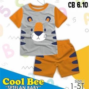 CB 6.10 GREY TIGER SETELAN ANAK COOL BEE