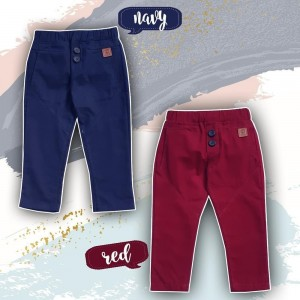 BT 1.7 RED BUTTONED TROUSSERS PANTS