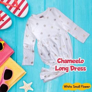 CHM 4.6 WHITE SMALL FLOWER LONG DRESS