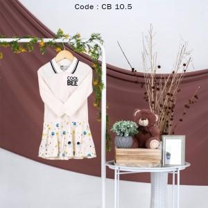 CB 10.5 CREAM STAR DRESS ANAK COOL BEE