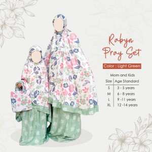 TAZKIA 1.1 LIGHT GREEN MUKENA RABYN ANAK TAZKIA