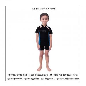 ED DV AK 006 BLACK-BLUE BAJU RENANG ANAK EDORA