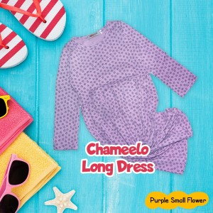 CHM 4.18 PURPLE SMALL FLOWER LONG DRESS