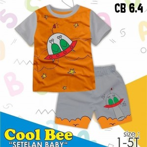 CB 6.4 ORANGE UFO SETELAN ANAK COOL BEE