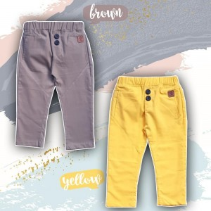 BT 1.4 YELLOW BUTTONED TROUSSERS PANTS