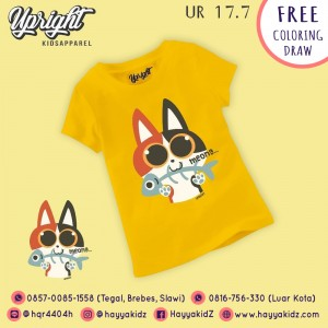 UR 17.7 YELLOW MEONG KAOS ANAK UPRIGHT
