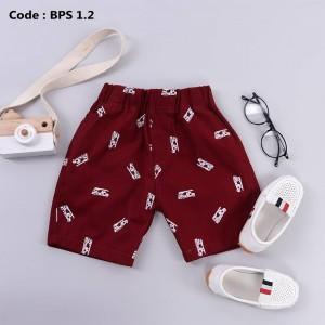 BPS 4.2 MAROON BOYS PATTERNED SHORT PANTS