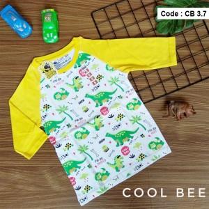 CB 3.7 WHITE DINOS KAOS ANAK COOL BEE