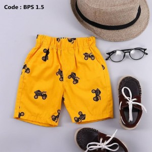BPS 4.5 YELLOW PATTERNED SHORT PANTS