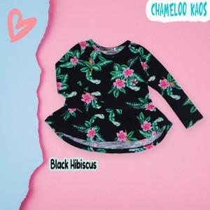 CHM 3.10 BLACK HIBISCUS KAOS ANAK CHAMEELO