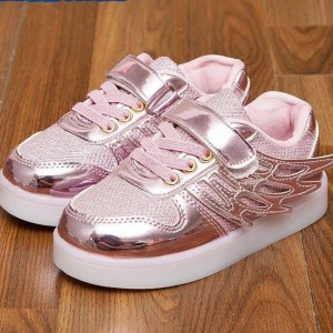 WINGS-NEW LED SHOES PINK KECIL