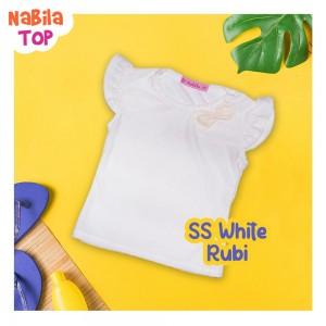 NB 8.3 SS WHITE RUBI  NABILA TOP