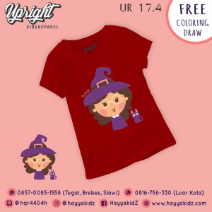 UR 17.4 MAROON WITCH KAOS ANAK UPRIGHT