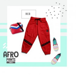 AFRO 1.6 RED JOGER PANTS KAKAY KIDS