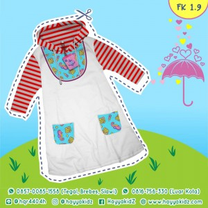 FK 1.9 WHITE SEA ANIMAL DRESS HOODIE ANAK