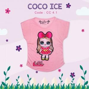 CC 4.1 PEACH FANTA RAINBOW KAOS ANAK COCO ICE