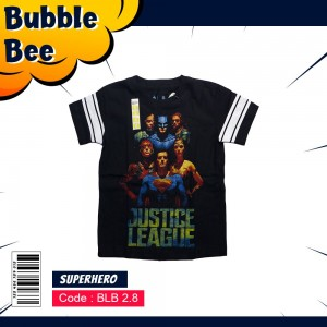 BLB 2.8 BLACK JUSTICE LEAGUE KAOS ANAK BUBBLEBEE