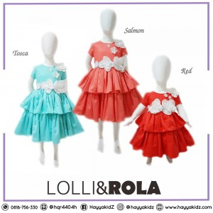 LR 1.1 VELVET 2 LAYER DRESS PESTA ANAK LOLLI ROLA 3M-24M