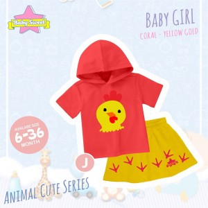 BS J PEACH CHICKS SET HOODIE ANIMAL CUTE SERIES BABY SWEET