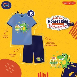 HK B BLUE CROCODILE SETELAN EDUCATION HONEST KIDS