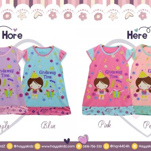HH 1.8 GIVEAWAY DRESS ANAK HERE HORE  2 4 6