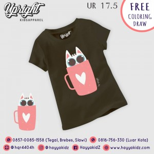 UR 17.5 BLACK CUTIE CUP KAOS ANAK UPRIGHT