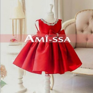 AMISSA 403 DRESS ROYAL RED