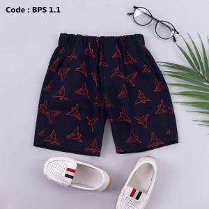 BPS 4.1 NAVY BOYS PATTERNED SHORT PANTS
