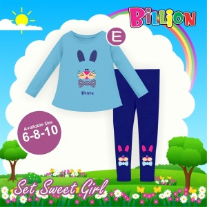 BL E BLUE RABBIT SETELAN SWEET BILLION