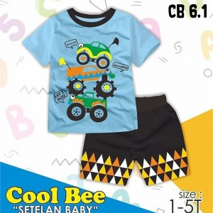 CB 6.1 BLUE CARS SETELAN ANAK COOL BEE