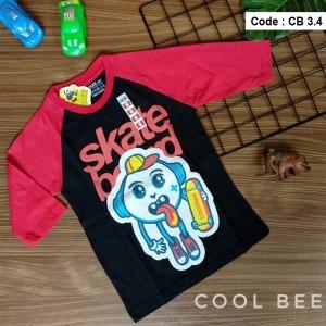 CB 3.4 BLACK SKATE BOARD KAOS ANAK COOL BEE