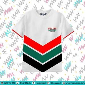 UR 6.4 WE CARE PALESTINA KAOS ANAK UPRIGHT