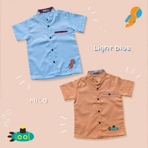 LV JUN LIGHT BLUE KEMEJA ANAK LEVINE SHIRT